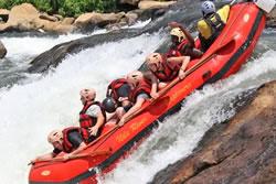 White water rafting in Jinja